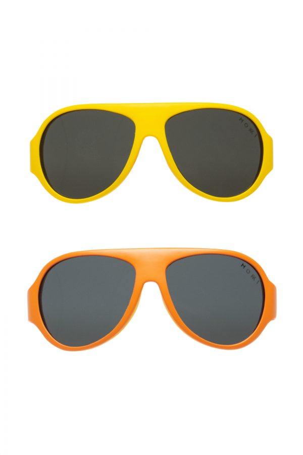 Mokki Sunglasses for kids click and change yellow frames