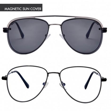 Mokki Readingr glasses MO4092 with magnetic suncover Black