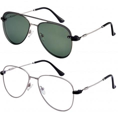 Mokki Readingr glasses MO4092 with magnetic suncover Green