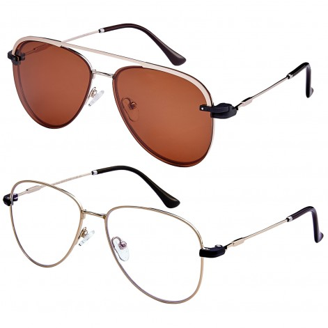 Mokki Readingr glasses MO4092 with magnetic suncover Orange