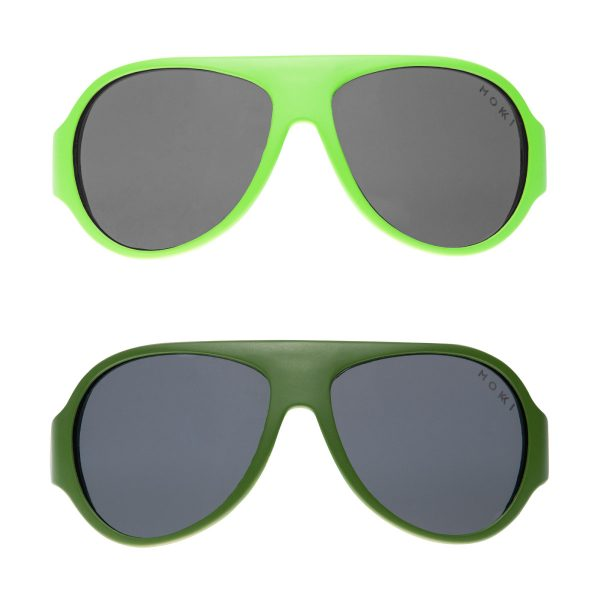 Mokki Sunglasses for kids click and change green and light green