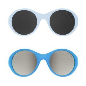 Mokki Click & Change solbriller for barn 0-2 år i blå farge