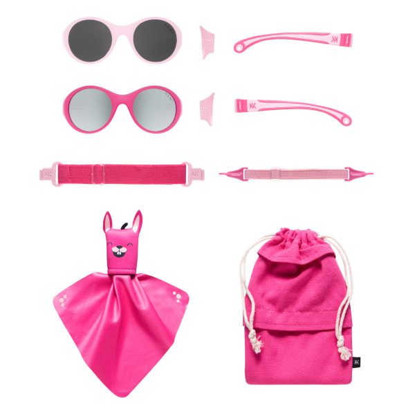 Mokki Sunglasses for kids click and change pink parts and frames