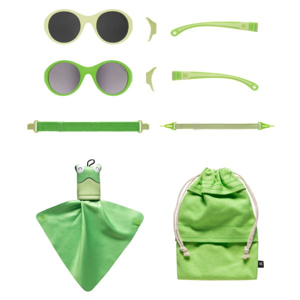 Mokki Sunglasses for kids click and change green parts and frames