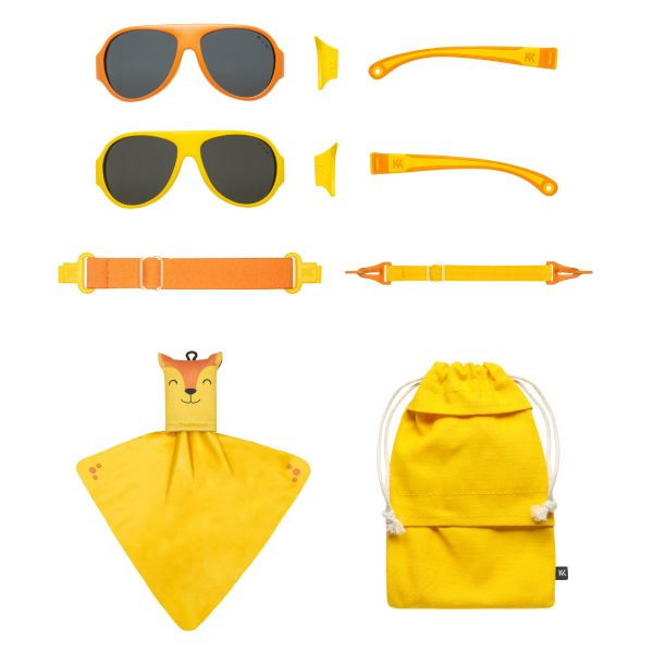 Mokki Sunglasses for kids click and change yellow parts and frames