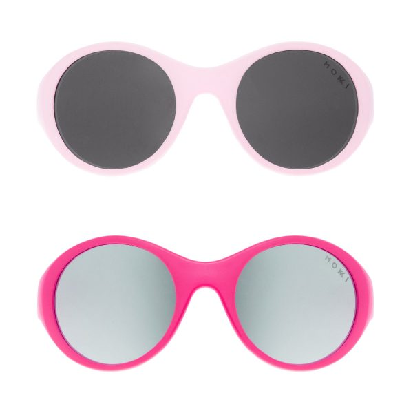 Mokki Sunglasses for kids click and change Pink and light pink