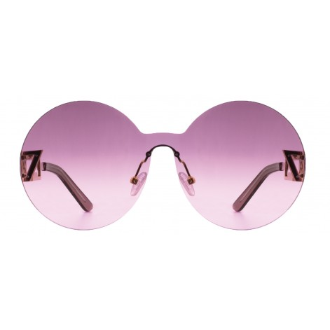 Mokki Sunglasses for woman #2262 oversized round frame pink