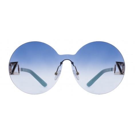 Solbrille #2262 Mokki rammeløse 18k gullbelagt