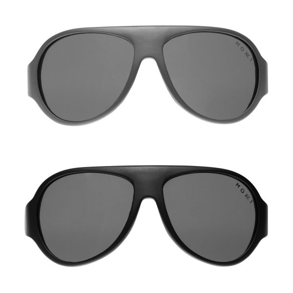 Mokki Sunglasses for kids click and change black and gray