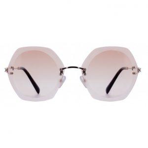 Solbrille #2269 Mokki rammeløse solbriller for dame